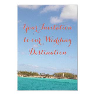 De Uitnodiging van het Huwelijk van het strand