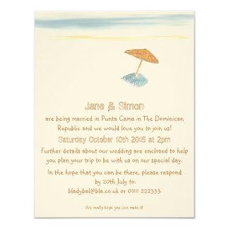 De Uitnodiging van het Huwelijk van het strand in