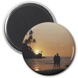 De Uitnodiging van het Huwelijk van het strand Koelkast Magneet