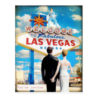 De Uitnodiging van het Huwelijk van Las Vegas Wens Kaart