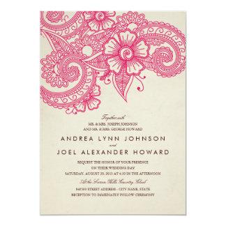 De Uitnodiging van het Huwelijk van mod. Mehandi