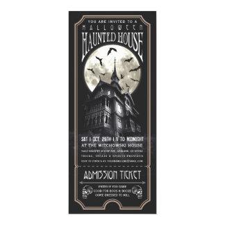 De Uitnodiging van het Kaartje van het Spookhuis