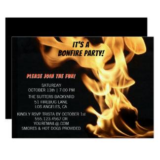 De Uitnodiging van het Kamp van de Vlammen van het