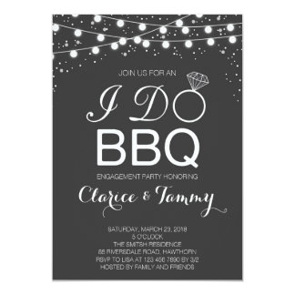 De Uitnodiging van I Do BBQ/BBQ de Partij van het