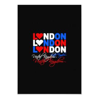 De uitnodiging van Londen - kies stijl & pas aan!
