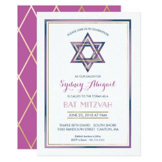 De Uitnodiging van Mitzvah van de knuppel - pas