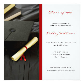 De Uitnodigingen van afstuderen