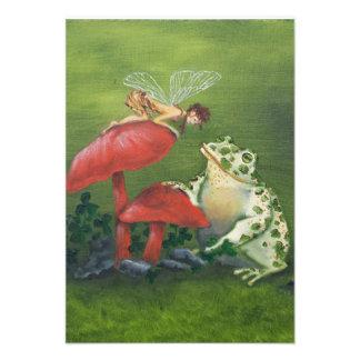 """De Uitnodigingen van de """"fee en van de Kikker"""""""