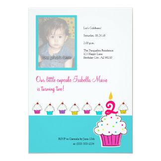 De Uitnodigingen van de Foto van Cupcake, de
