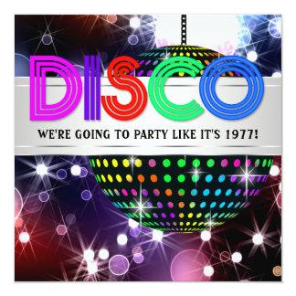 De Uitnodigingen van de Partij van de Disco van de