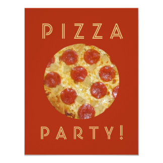De uitnodigingen van de PARTIJ van de PIZZA van de