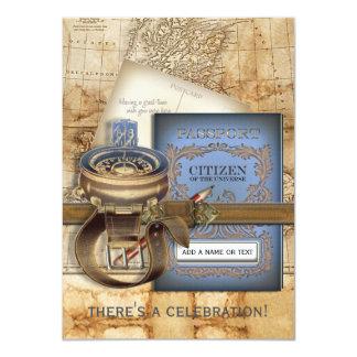 De uitnodigingen van de Partij van de Reiziger 11,4x15,9 Uitnodiging Kaart