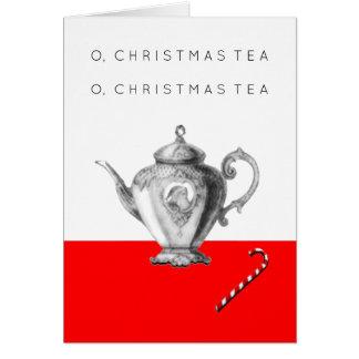 De Uitnodigingen van de Thee van Kerstmis