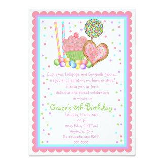De uitnodigingen van de Verjaardag van Cupcake en