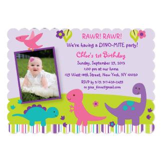 De Uitnodigingen van de Verjaardag van de Dinosaur