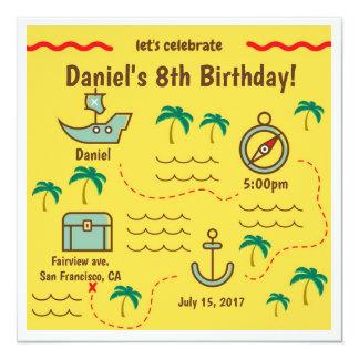 De Uitnodigingen van de Verjaardag van de Kaart
