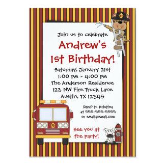 De Uitnodigingen van de Verjaardag van de Strepen