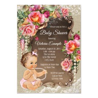 De Uitnodigingen van het Baby shower van het Kant
