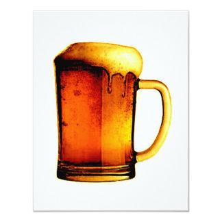 De Uitnodigingen van het bier - het Bier nodigt 10,8x13,9 Uitnodiging Kaart