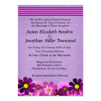 De Uitnodigingen van het Huwelijk van de bloem 12,7x17,8 Uitnodiging Kaart