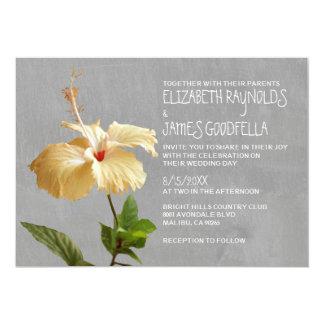De Uitnodigingen van het Huwelijk van de hibiscus