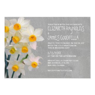 De Uitnodigingen van het Huwelijk van de jonquille