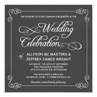 De Uitnodigingen van het Huwelijk van het Bord van