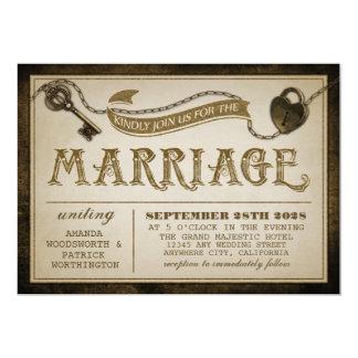 De Uitnodigingen van het Huwelijk van het Slot en