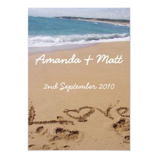 De Uitnodigingen van het Huwelijk van het strand