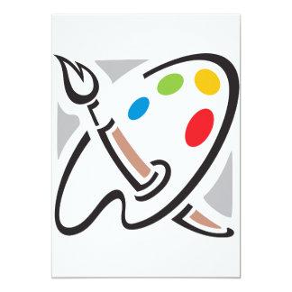 De Uitnodigingen van het Palet van schilders