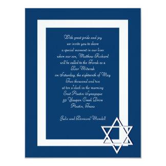 De Uitnodigingen van Mitzvah van de bar/Knuppel