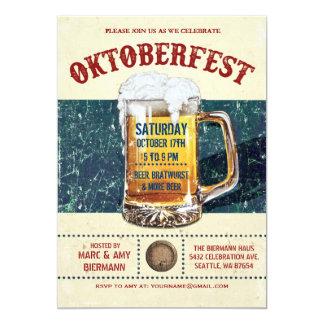 De Uitnodigingen van Oktoberfest - Vintage