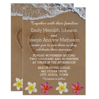 De Uitnodigingen van Plumeria/van het Huwelijk