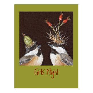 De uitnodigingsbriefkaart van de Nacht van meisjes Briefkaart