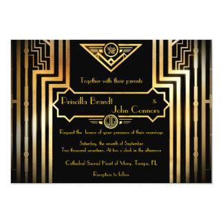 De uitnodigingsceremonie van het huwelijk, kaart