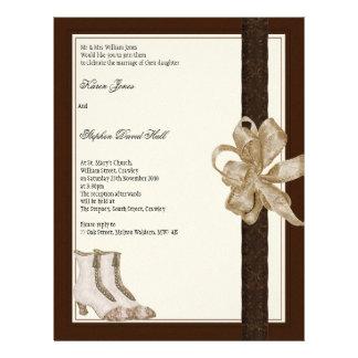 De uitnodigingsvlieger van het huwelijk van flyer 21,6 x 27,9 cm