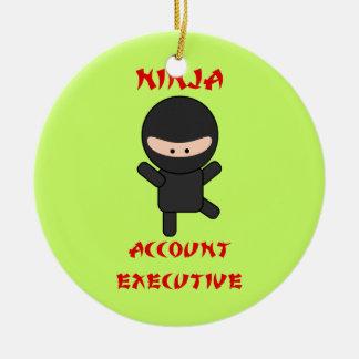 De Uitvoerende macht van de Rekening van Ninja Rond Keramisch Ornament
