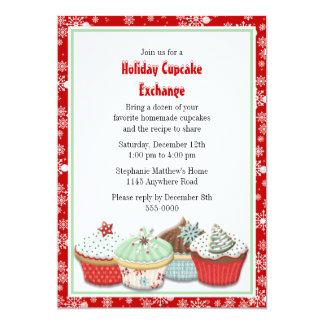De Uitwisseling van Cupcake van de vakantie 12,7x17,8 Uitnodiging Kaart