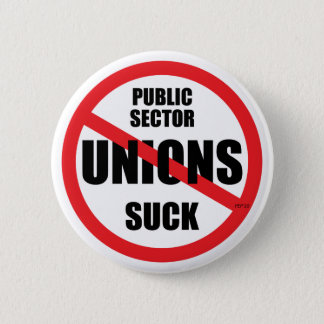 De Unie van de openbare sector zuigt Ronde Button 5,7 Cm
