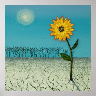 De unieke BloemenDruk van het Landschap, Poster