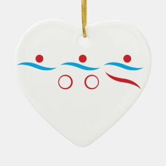 De unieke gift van Triathlon Keramisch Hart Ornament