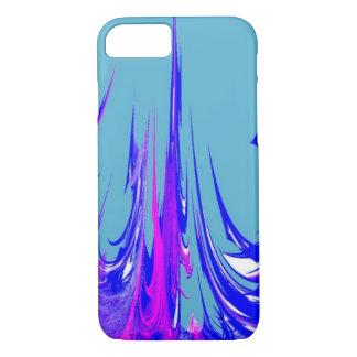 de unieke koele moderne blauwe samenvatting van de iPhone 7 hoesje