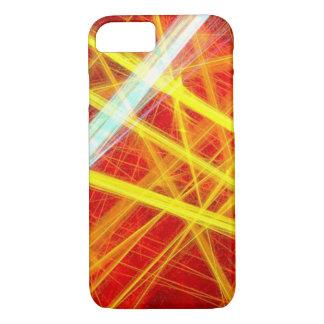 de unieke van de de stralenlaser van de neon gele iPhone 7 hoesje