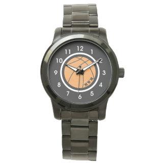 De unisex- Zwarte Armband van het Horloge van het