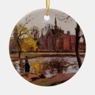 De Universiteit van Dulwich, Londen door Camille Rond Keramisch Ornament