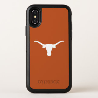 De universiteit van Texas | haakt hen vast Hoornen OtterBox Symmetry iPhone X Hoesje