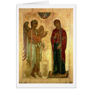 De Ustiug Aankondiging, c.1130-40 (tempera op pan Briefkaarten 0