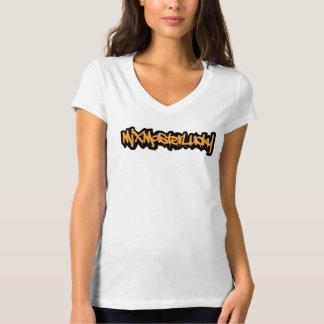 De v-Hals van de mengeling Hoofd Gelukkig Grafisch T Shirt