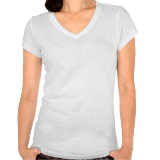 De v-Hals van het Adres van dames T Shirt