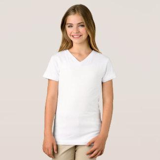 De v-Hals van Jersey van meisjes Fijne T-shirt